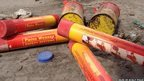 Bomb squad called to dumped flares