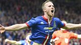 Marley Watkins celebrates his goal at Hampden