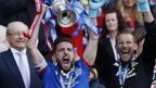 Inverness Caledonian Thistle players with the Scottish Cup