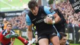 DTH van der Merwe scores Glasgow's second try