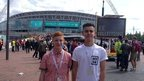 William and Sam at Wembley
