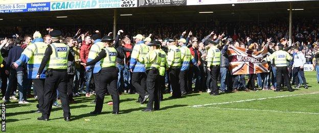 Fans te Police leh security guard ten an dang