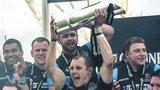 Glasgow Warriors celebrate