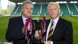 Scotland manager Gordon Strachan (right) will lead his team against Qatar at Easter Road