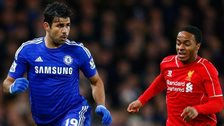 Diego Costa and Raheem Sterling