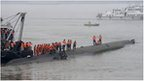 Rescue efforts underway after a ship sank at the Jianli section of the Yangtze River