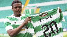 Dedryck Boyata shows off his new Celtic kit