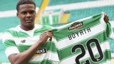 Dedryck Boyata shows off his new Celtic kit