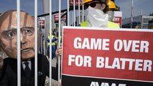 Protesters outside Fifa Congress