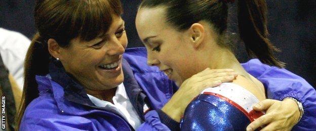 Beth Tweddle and her coach Amanda Reddin