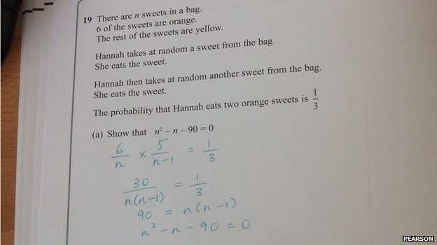 Bbc News Tricky Gcse Maths Exam Sees Pupils Take To Twitter