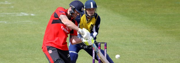 England all-rounder Ben Stokes made 40, but then went for 44 off three overs with the ball