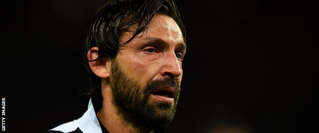 Juventus playmaker Andrea Pirlo, 36, shed a tear on the pitch after his side's 3-1 defeat