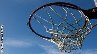 A netball hoop