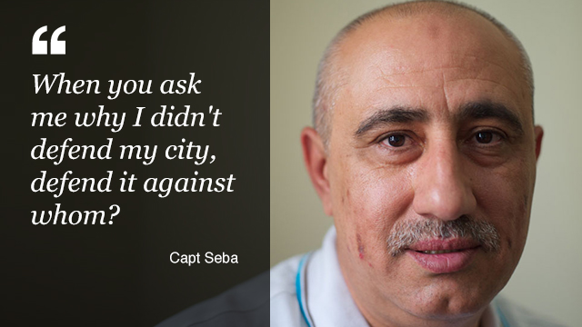 Captain Seba, an Iraqi flight engineer