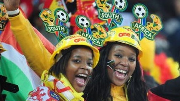 South African football fans - July 2010
