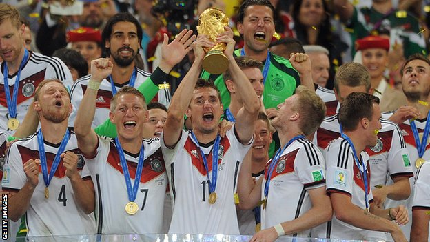 Germany lifting the World Cup