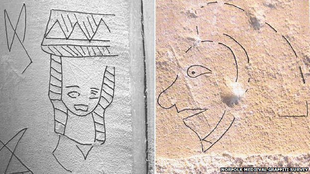 'Medieval selfies' found in churches