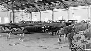 Factory with Dornier Do 17Z fuselages