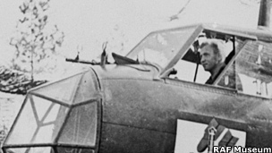 Pilot in the cockpit of a Dornier Do 17