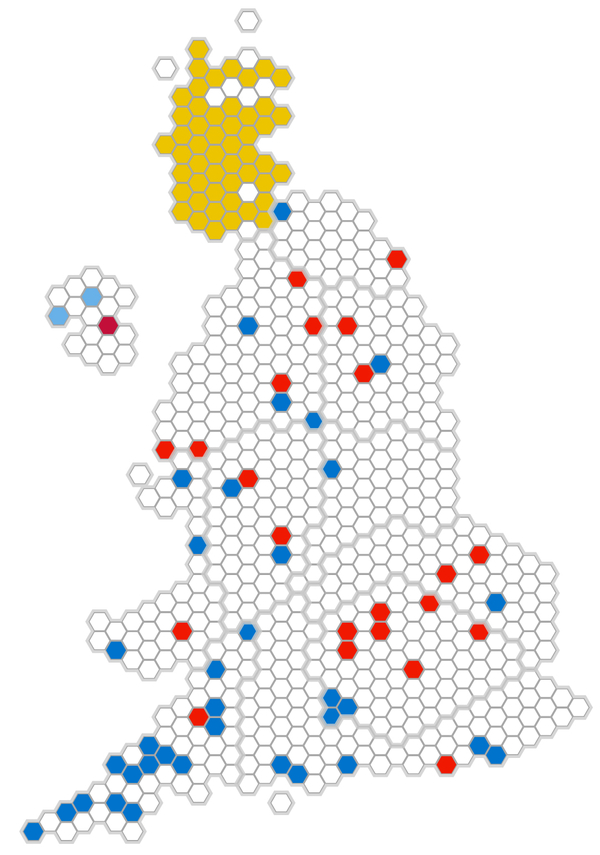 Election Which Seats Changed Hands BBC News - Bbc election map us