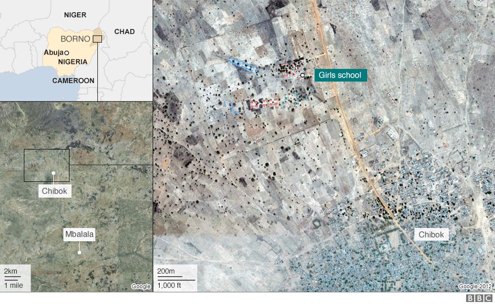 Map showing Chibok
