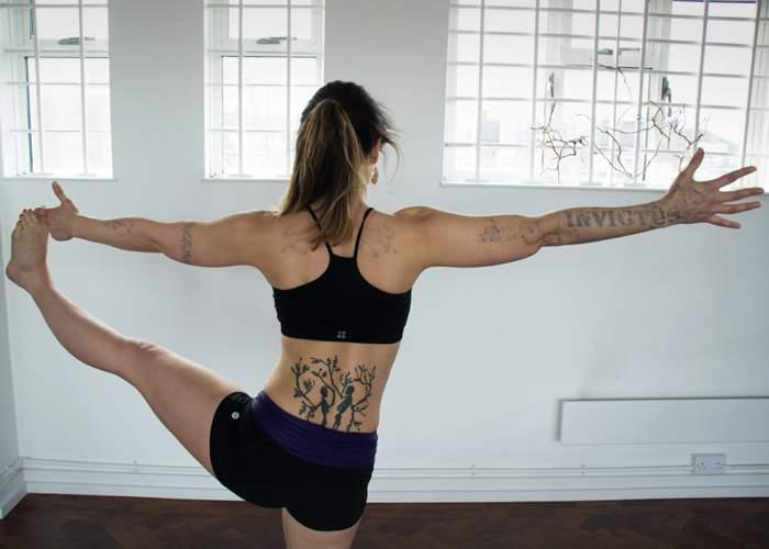 Tass now teaches yoga