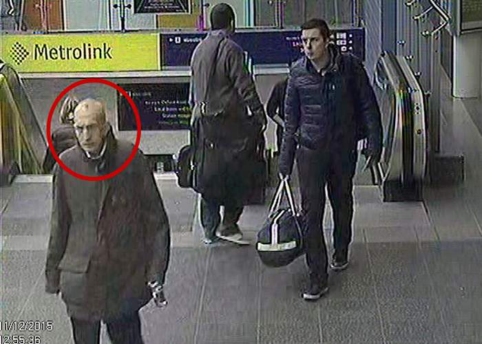 Caught on CCTV a few minutes before he left the station