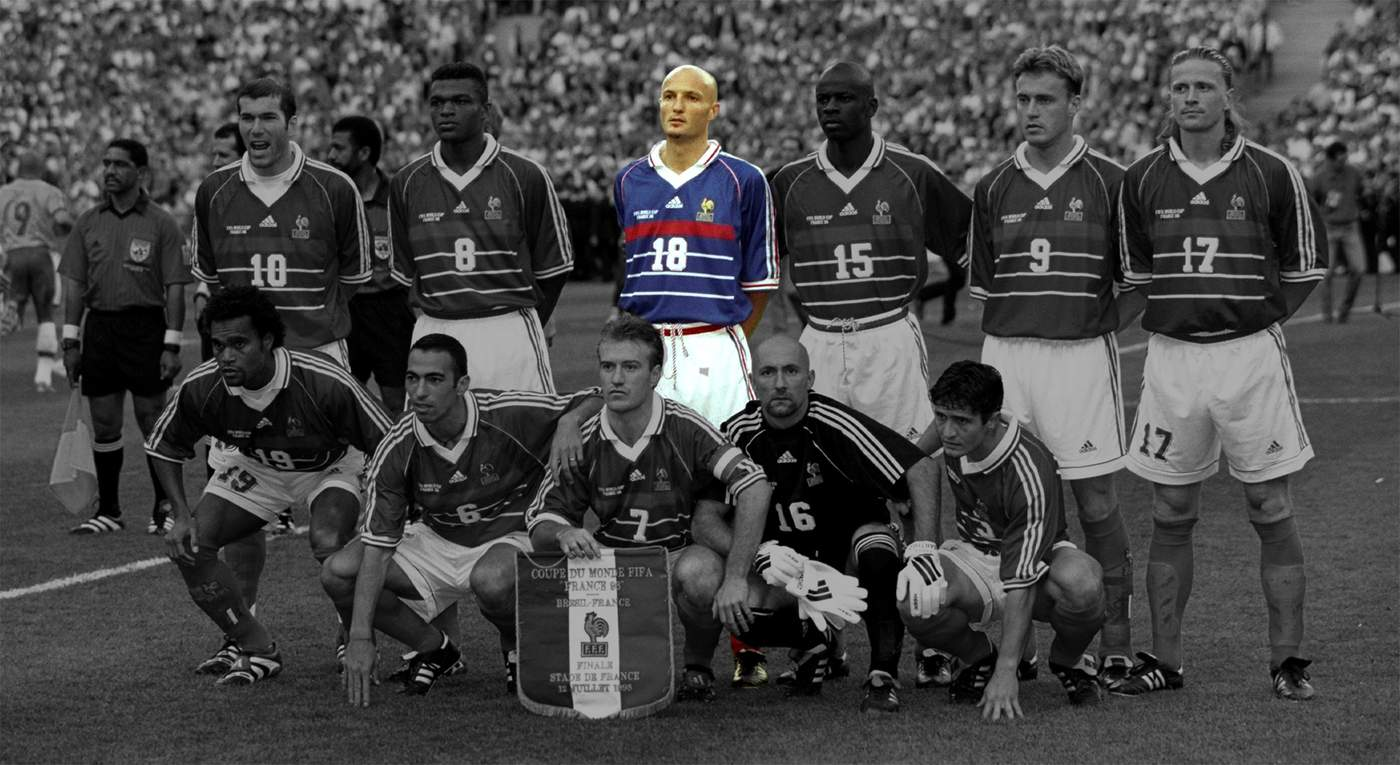 Played In The Final Place Of Suspended Centre Back Laurent Blanc Born Coastal Commune Saint Cyr Sur Mer Near Marseille South