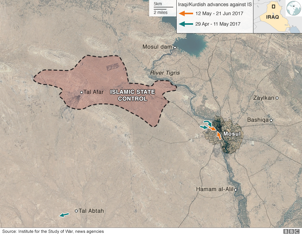 How The Battle For Mosul Unfolded BBC News - Bbc us immigration map