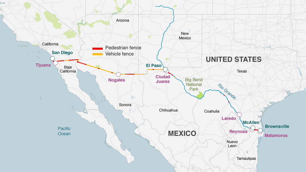 Fencing already exists along the border  More than 650 miles  1 050km  of. 6 things that could topple Donald Trump s border wall   BBC News