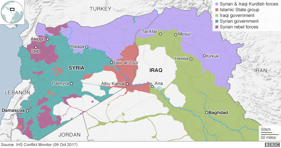 Islamic State And The Crisis In Iraq And Syria In Maps BBC News - Map of area that us forces control in syria