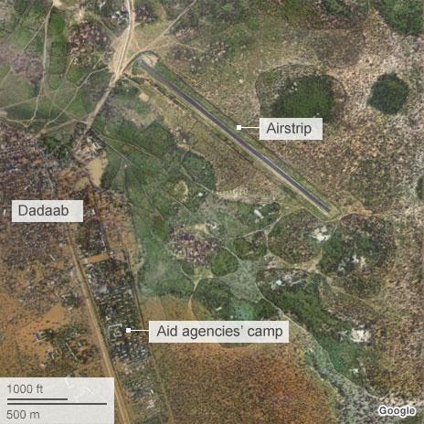 Dadaab town and airstrip