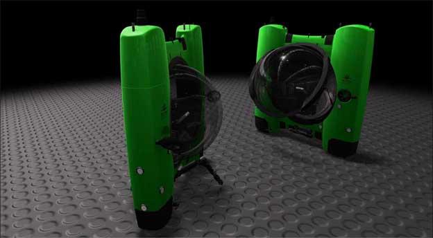 Graphic: Two Triton 3600 submarines