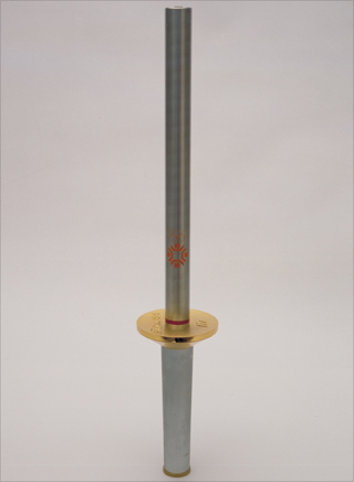 Photo: The torch design for the 1984 Winter Olympic Games