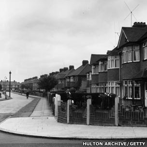 Suburban London in the mid-20th Century