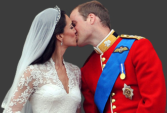 Portrait image of Prince William and the Duchess of Cambridge