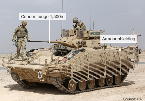 Warrior armoured vehicle