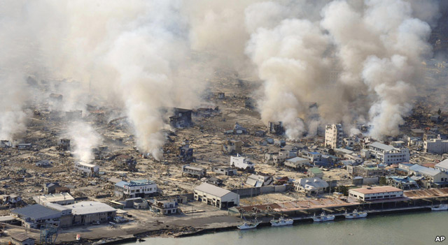 BBC News - Japan earthquake map: video reports