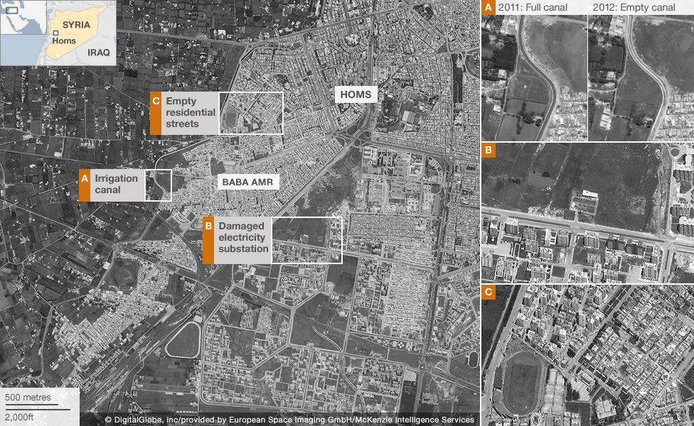 Satellite Images Reveal Syria Suffering - Satellite footage