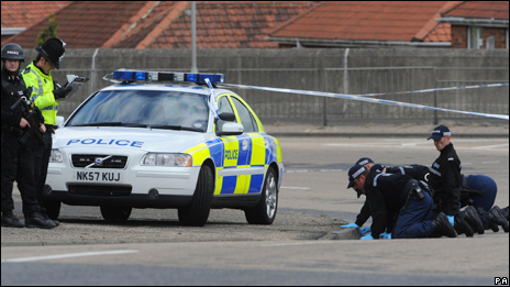 image of police searching