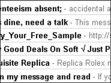 Spam in e-mail inbox, BBC
