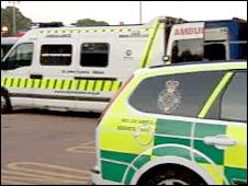 Two ambulances (generic)