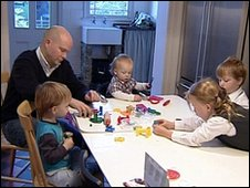 Toby Young and family