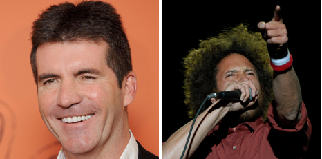 Simon Cowell and Rage Against The Machine