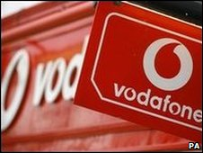 Vodafone sign (PA)