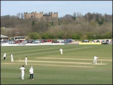 Action at Durham's Riverside ground