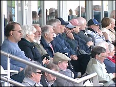 The crowd at Durham's Riverside ground