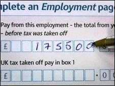 Self assessment tax form