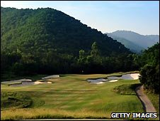 The Greg Norman designed course at Mission Hills, Shenzhen, China